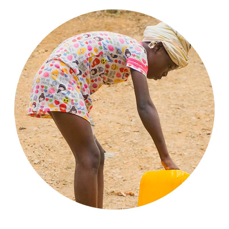 Girl fetching water